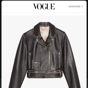 New Sandro Shay Biker Leather Jacket L Large Black
